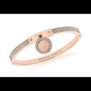 Michael Kors Rose Gold Fulton Monogram Bracelet